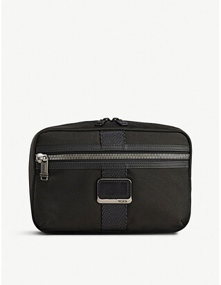 Tumi Sadler fabric and leather briefcase