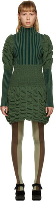 Paula Canovas Del Vas Green Short Knit Dress