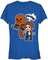 Fifth Sun Women's Tee Shirts ROYAL - Star Wars Han Solo & Chewbacca Dynamic Duo Tee - Women & Juniors