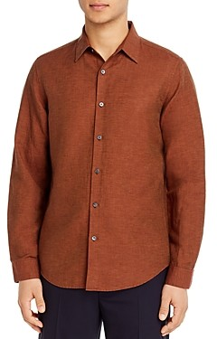 Theory Irving Essential Linen Twill Button-Down Shirt