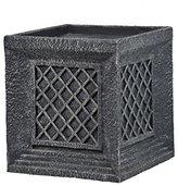 "Laura Ashley VHX215 Lattice Cube Planter Fiberstone, 14"""