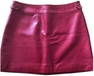 Tara Jarmon Red Leather Skirt for Women