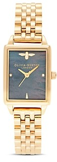 Olivia Burton Bee Hive Black Mother-of-Pearl Link Bracelet Watch, 20.5mm x 25.5mm - 100% Exclusive