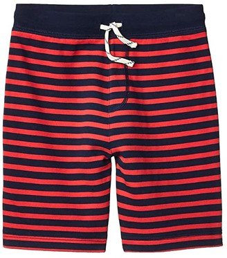 crewcuts by J.Crew Striped French Terry Knit Short (Toddler/Little Kids/Big Kids) (Navy/Red) Boy's Shorts