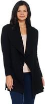 Isaac Mizrahi Live! 2-Ply Cashmere Shawl Collar Open Cardigan
