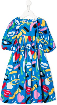 Stella McCartney Graphic Face Dress