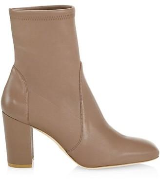 Stuart Weitzman Caressa Leather Sock Boots