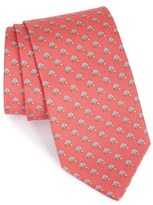 Salvatore Ferragamo Men's Owl Print Silk Tie