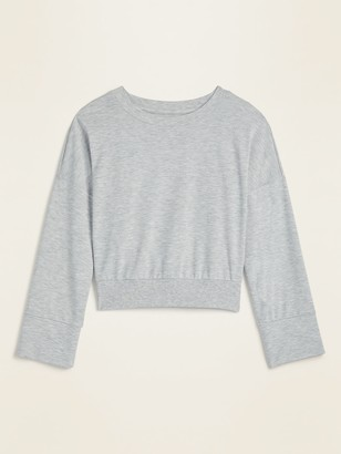 Old Navy Cropped French Terry Bell-Sleeve Sweatshirt for Women