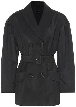 Simone Rocha Wool-blend twill jacket