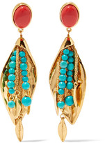 Aurelie Bidermann Monteroso Gold-plated Beaded Clip Earrings - one size