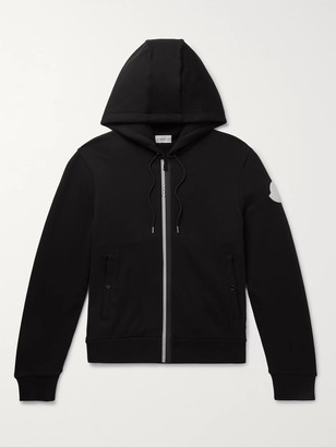 Moncler Logo-Appliqued Loopback Cotton-Jersey Zip-Up Hoodie