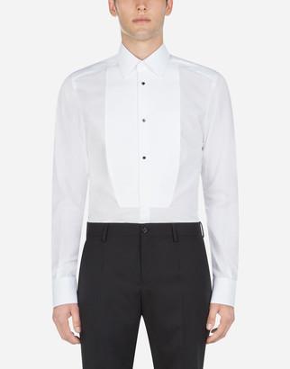 Dolce & Gabbana Cotton Gold-Fit Tuxedo Shirt