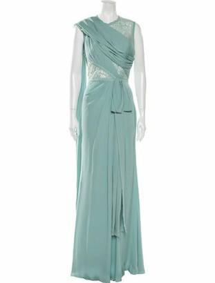 Elie Saab Silk Long Dress w/ Tags Green