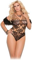 Hot Spot Sexy Women's Plus Size Lace Teddy With Cutout Detail Sleepwear Lingerie