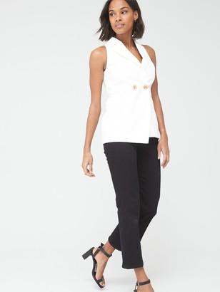 Very Sleeveless Tailored Blazer - Ivory