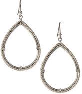 Armenta Silver & White Diamond Teardrop Earrings