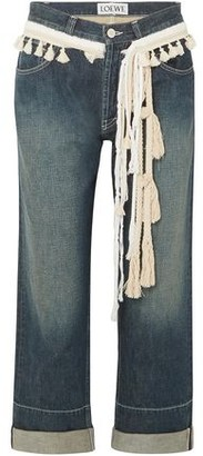 Loewe Rope-trimmed Cropped Boyfriend Jeans