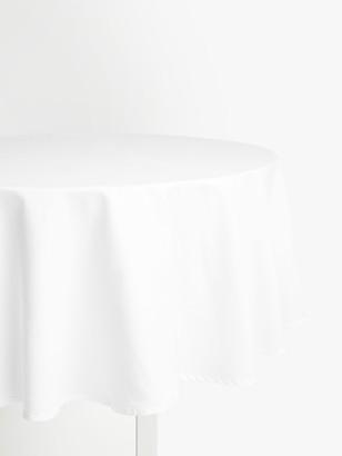 John Lewis & Partners Cotton Mix Round Tablecloth, Dia.180cm