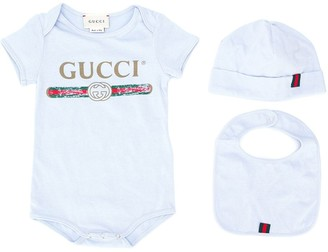 Gucci Kids Logo Print Shorties