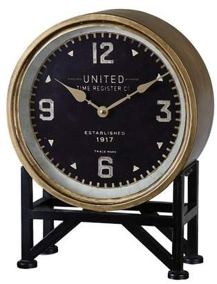 Uttermost Shyam Table Clocks Black/Brass