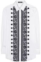 Dolce & Gabbana Lace-trimmed Cotton Shirt