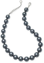 Charter Club Silver-Tone Gray Imitation Pearl Necklace, Only at Macy's
