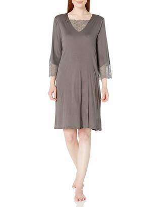 Hanro Women's Aria 3/4 Sleeve Gown