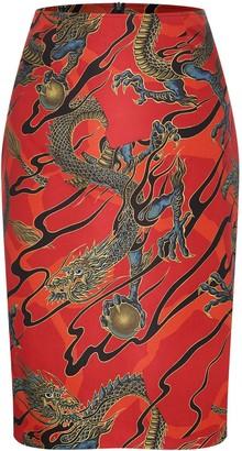 Marianna Déri Emma Skirt Dragons Red