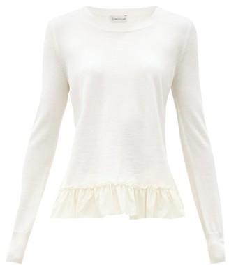 Moncler Ruffled-hem Wool Sweater - Ivory