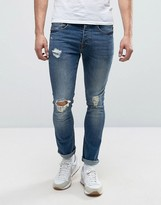 Loyalty And Faith Distressed Skinny Stretch Ripped Dylan Jeans in Midwash