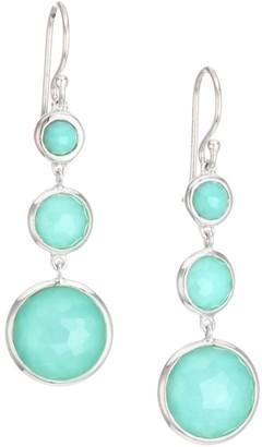 Ippolita Lollipop Lollitini Sterling Silver & Turquoise Doublet Triple-Drop Earrings