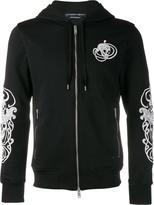 Alexander McQueen skull embroidered hoodie - men - Cotton/Polyester - M