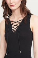 Dynamite Ribbed Lace-Up Tank