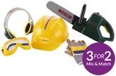 Bosch Chainsaw, Helmet And Work Gloves
