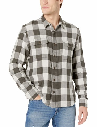 Lucky Brand Men's Clean Button Up Two Pocket Workwear Shirt