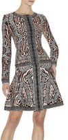 Herve Leger Theron Ocelot and Antique-Lace Jacquard Jacket