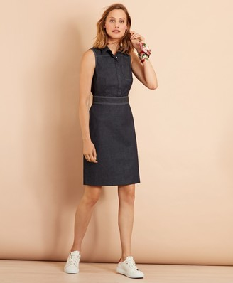 Brooks Brothers Stretch Cotton Denim Dress