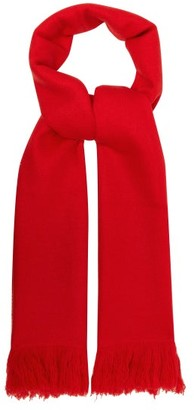 Isabel Marant Carlyn Fringed Cashmere Scarf - Red
