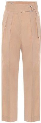 Jil Sander High-rise wool gabardine pants