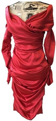 Dolce & Gabbana Red Silk Dresses