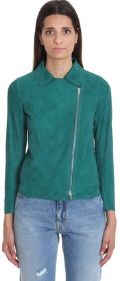 Salvatore Santoro Leather Jacket In Green Leather