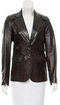 Gucci Fitted Leather Jacket