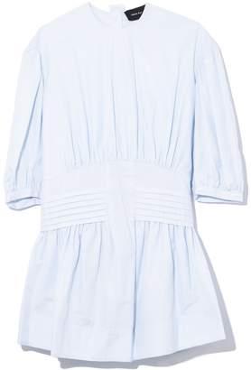 Simone Rocha Pintuck Smock Short Dress in Blue