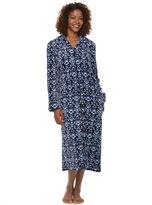Croft & Barrow Women's Long Plush Zip Lounger Robe