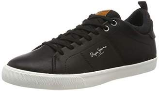 Pepe Jeans London Men's Marton Basic Low-Top Sneakers, (Black 999)