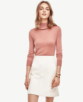Ann Taylor Ruffle Turtleneck Pullover