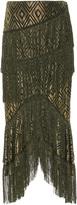 Anna Sui Foiled Diamond Fringe Skirt