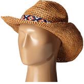 Roxy Cantina Straw Fedora Hat