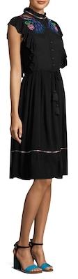 Antik Batik Joie Embroidered Flare Dress
